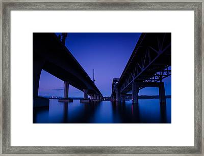 Between East And West Framed Print by Brian Xavier