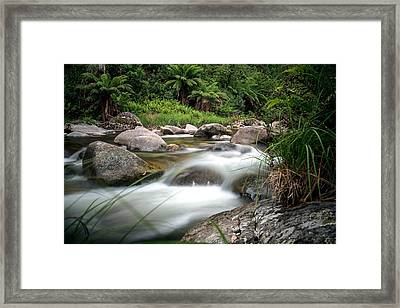 Between Fire And Tempest Framed Print by Mark Lucey