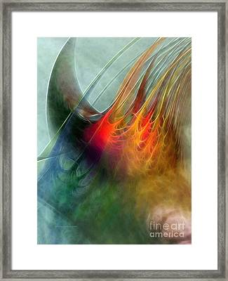 Between Heaven And Earth-abstract Framed Print