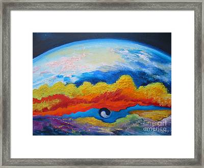 Between Heaven And Earth Framed Print