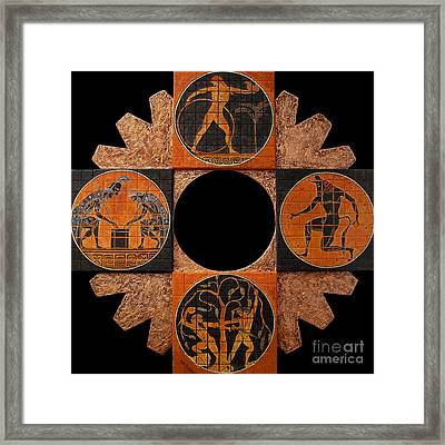 Between History And Legend Framed Print by Anna Maria Guarnieri