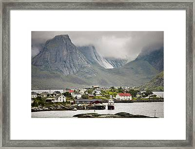 Between Mountains And Sea Coast Framed Print by YJ Kostal