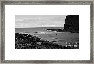 Between Rock And A Hard Place Framed Print by Malcolm Suttle
