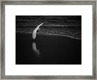 Between Sea And Clouds Framed Print