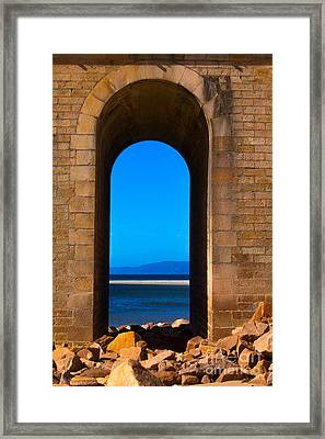 Between Sea And Sky Framed Print