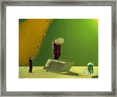 Between Shyness And Curiosity Framed Print by Mojo Mendiola
