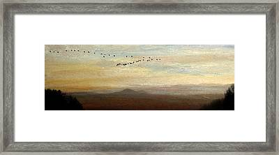 Between Sparta And Tomah 1 Framed Print