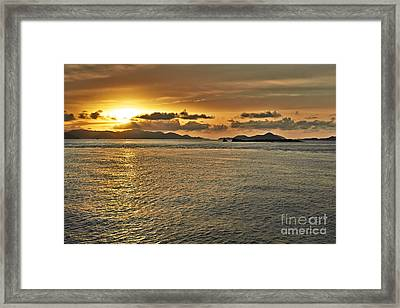 Between St. John And Thomas Sunset Framed Print by Eyzen M Kim