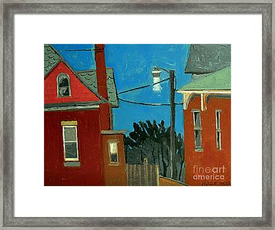 Between The Alley And 6th St Framed Print by Charlie Spear
