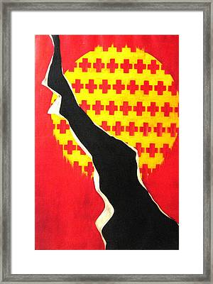 Between The Crosses Framed Print by Lyn Ferlo