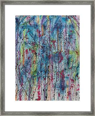 Between The Doubt Framed Print by Ronda Stephens