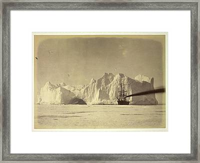 Between The Iceberg And Field-ice Framed Print