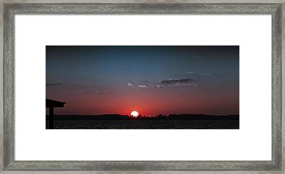 Between The Light And The Dark Framed Print