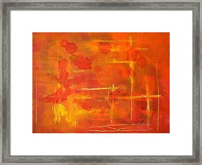Between The Lines Framed Print by Nancy Merkle