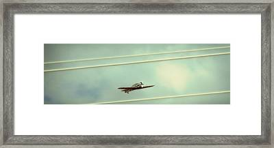 Between The Lines Polaroid Edition Framed Print by Tony Grider