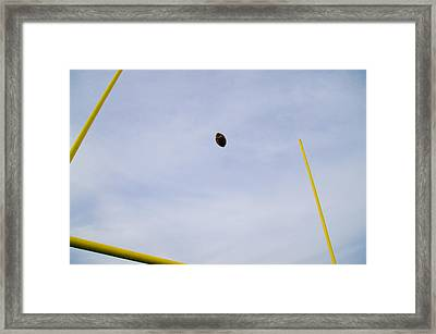 Between The Posts Framed Print by Bill Cannon