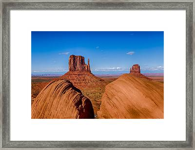 Between The Rocks Framed Print
