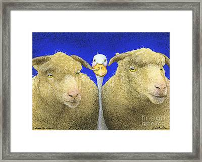 Between The Sheeps... Framed Print by Will Bullas
