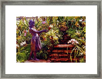 Between The Steps Framed Print