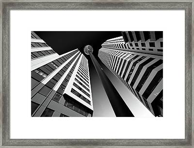 Between The White Towers Framed Print