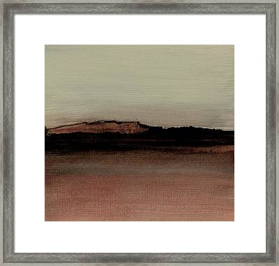 Between The Woods And Frozen Lake  Number 1133-10 Framed Print