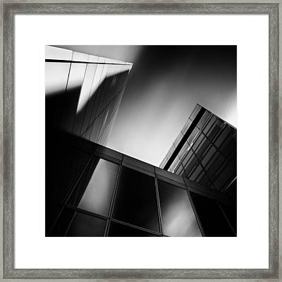 Between Towers Framed Print by Dave Bowman