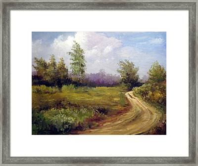 Between Villages Framed Print