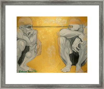 Between You And Me Framed Print by Darlene Graeser