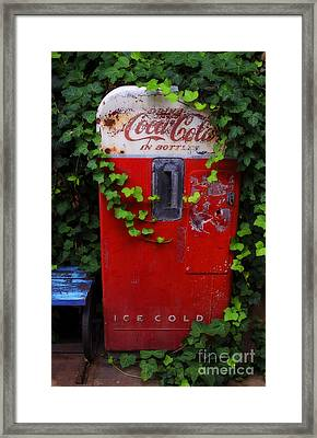 Austin Texas - Coca Cola Vending Machine - Luther Fine Art Framed Print