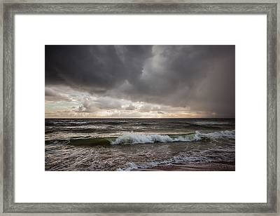 Beverly Beach Storm Framed Print