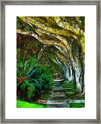 Beverly Hills Jungle Framed Print by Cary Shapiro