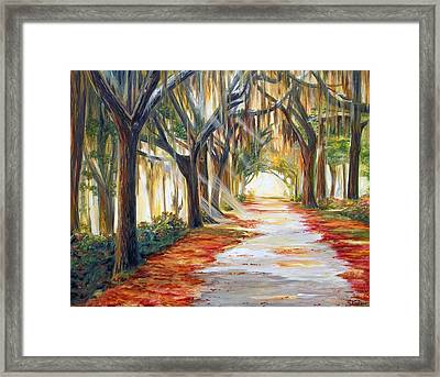Bev's Path Framed Print by Suzanne King