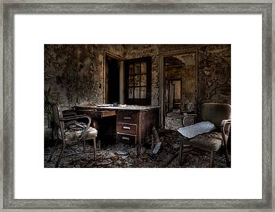 Beware Midlife Crisis In Progress Framed Print by George Argento
