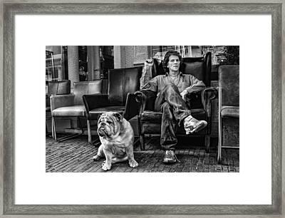 Beware Of Owner ! Framed Print by Rudi Harlim