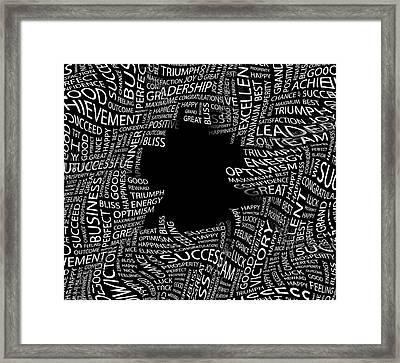 Beware The Black Holes Of Life Framed Print by Daniel Hagerman