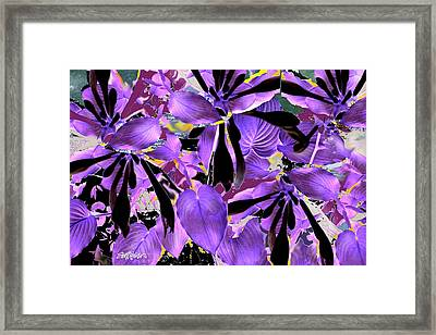 Framed Print featuring the digital art Beware The Midnight Garden by Seth Weaver