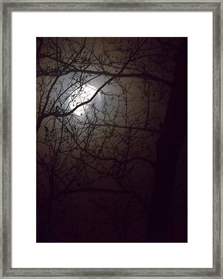 Framed Print featuring the photograph Beware The Rougarou Moon by John Glass