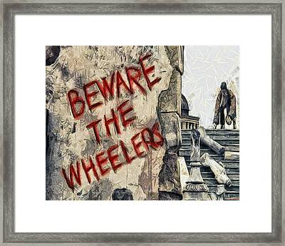 Beware The Wheelers Framed Print by Joe Misrasi