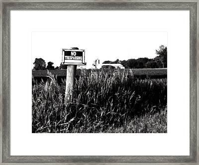 Beware Framed Print by Tom Druin