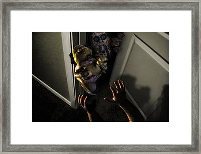 Beware Zombies Bearing Gifts Framed Print by Randy Turnbow