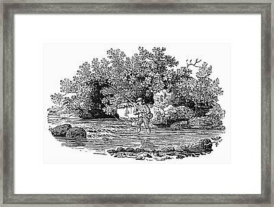 Bewick Fishing, C1800 Framed Print