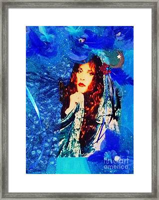 Bewitched In Blue Framed Print