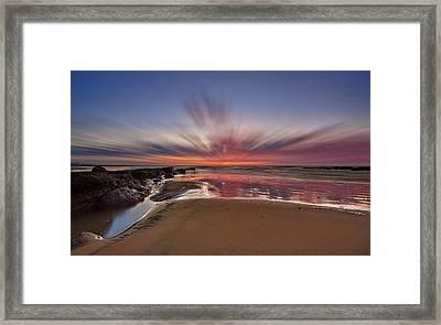 Bexhill Sunburst Framed Print by Mark Leader