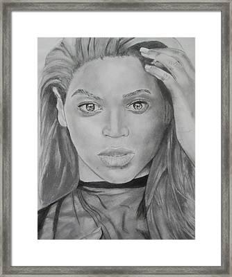 Beyonce Framed Print by Aaron Balderas