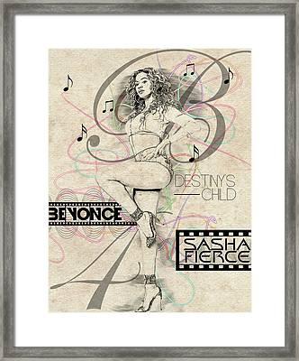 Beyonce Framed Print by Anibal Diaz