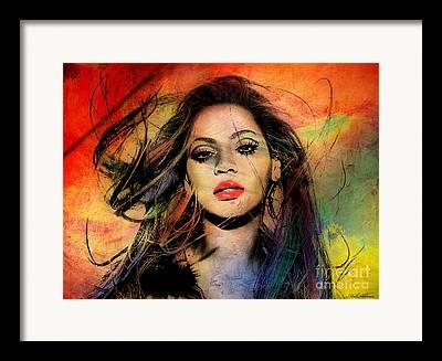 Famous Women Digital Art Framed Prints