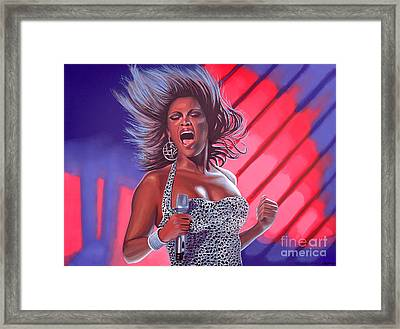 Beyonce Framed Print by Paul Meijering