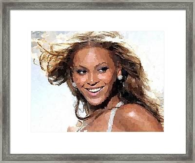 Beyonce Portrait Framed Print