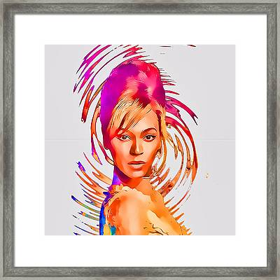 Beyonce Splash Of Color By Gbs Framed Print