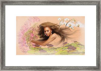 Beyonce's Dream Framed Print by Angela A Stanton